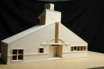 Balsa wood model of Venturi's mother's house