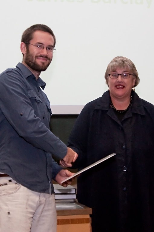 James Barclay (MArch) received the Margot and Neville Gruzman Award for Urban Design in Architecture from Ann Quinlan